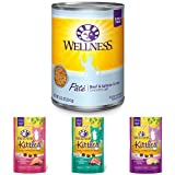 Wellness Natural Grain Free Wet Canned Cat Food,...