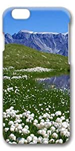 iPhone 6 Case, Personalized Design Protective Covers for iPhone 6(4.7 inch) PC 3D Case - White Mountain Flowers