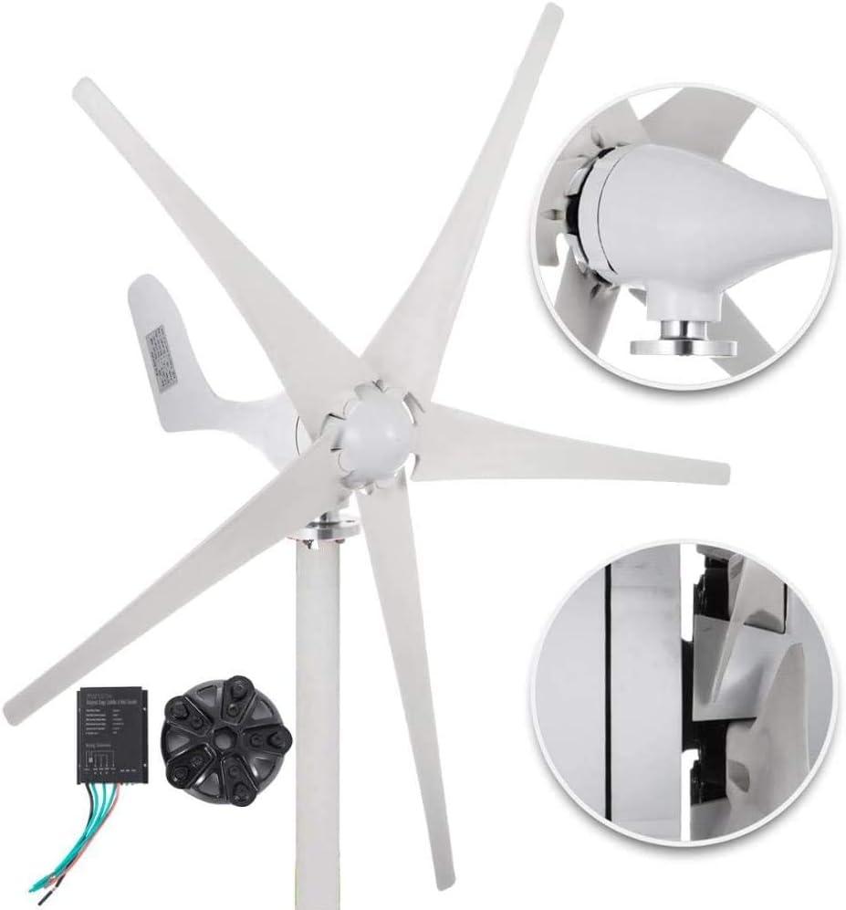 NAWS Generador de turbina de Viento 500W DC 12V / 24V Turbina de Viento 5 Cuchillas Baja Velocidad del Viento Arranque NSK Rodamientos Luces de Calle de jardín