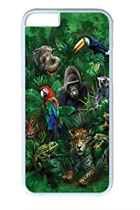 Jungle Friends Animal 2 Polycarbonate Hard Case Cover for iPhone 6 White