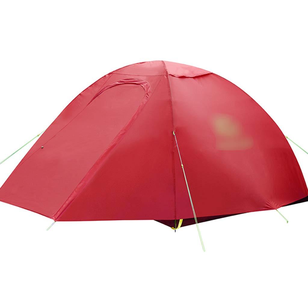 YaNanHome Doppeltes Starkes regendichtes Zelt des Zeltes im Freien 1-2 Leute kampierendes Zeltpaarzelt, Das Zelt wandert (Farbe : ROT, Größe : 210  140  110cm)