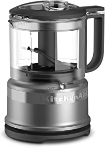 KitchenAid KFC3516CU 3.5 Cup Mini Food Processor, Contour Silver (Renewed)