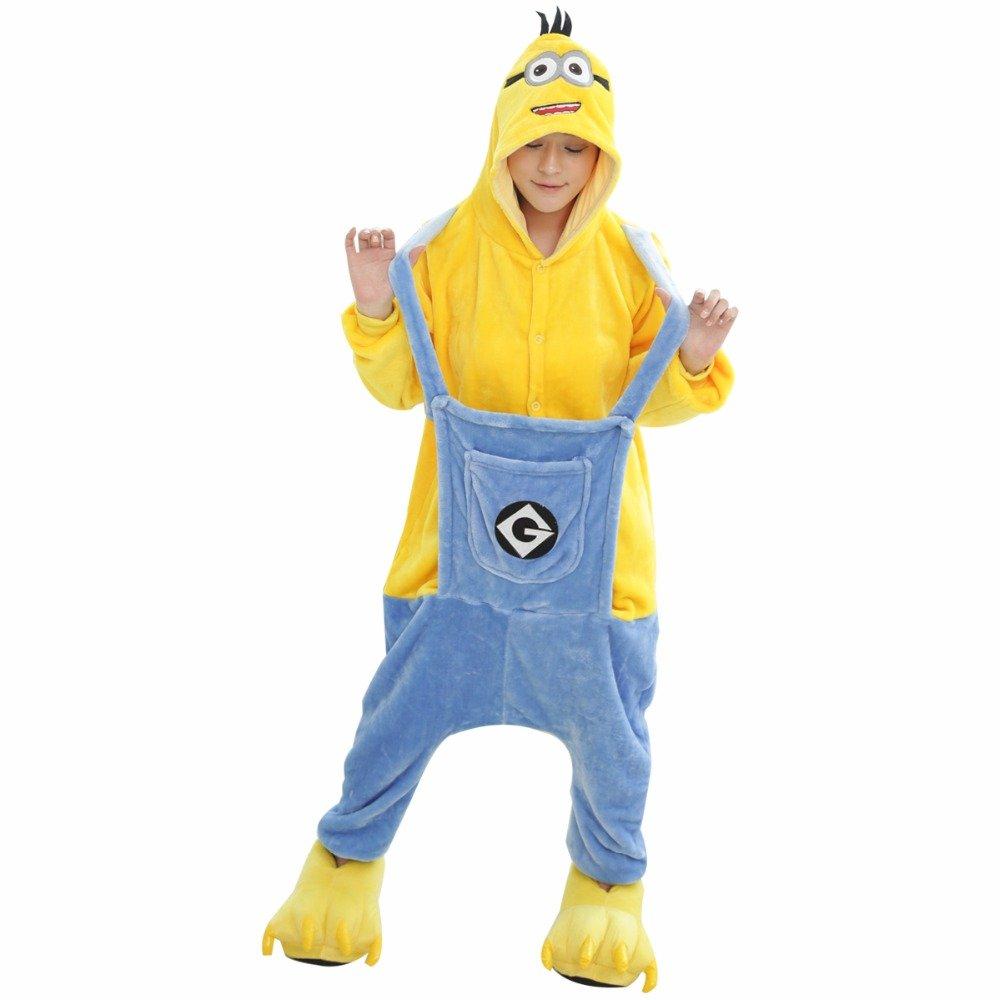 Despicable Me Traje de Mono - Adulto Unisex Pijama Entero de Súbditos o Disfraz - Halloween Cosplay Ropa (L (171-180CM))