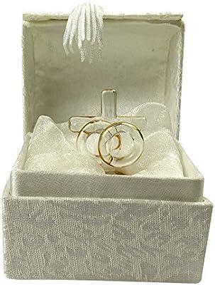 Boda o aniversario anillos de Cruz de cristal con dos de pedestal ...