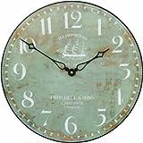 Roger Lascelles Ship Motif Wall Clock, Clipper- 14.2-Inch