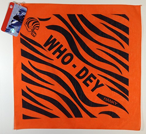 NFL Cincinnati Bengals Orange/Black Original Who-Dey Hankie Fan ()