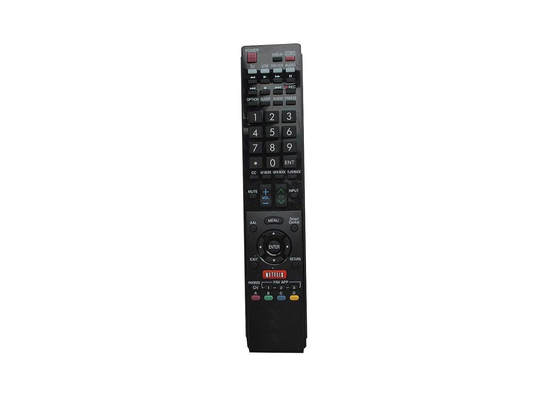 HCDZ 交換用リモコン Netflixボタン付き Sharp LC-40LE832U LC-70LE732U LC-60LE835 LC-60LE835U Samrt 3D AQUOS LCD LED HDTV TV用   B06WD3RLGG