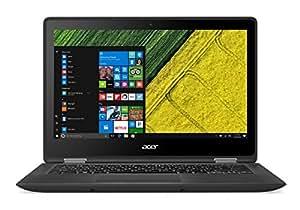 """Acer SP513-51-54F3 - Ordenador Portátil Convertible de 13.3"""" FullHD (Intel Core i5-7200U, 8 GB RAM, 256 GB SSD, Intel Hp Graphics 620,Windows 10); Negro - Teclado QWERTY Español"""