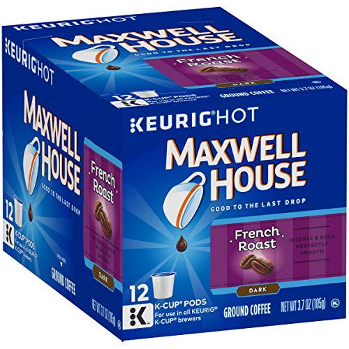 Maxwell House French Roast Keurig K Cup Coffee Pods (72 Count, 6 Boxes of -