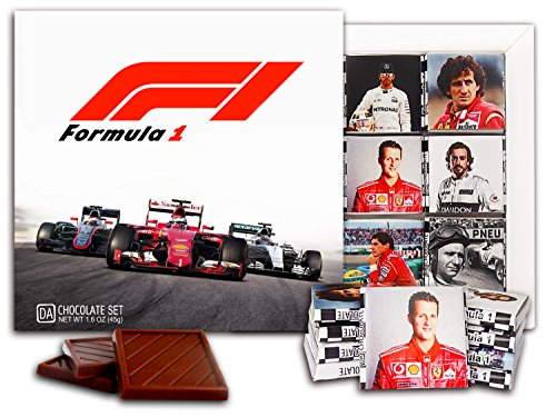 "DA CHOCOLATE Candy Souvenir FORMULA 1 Chocolate Set 5x5"" 1 box (Cars)"