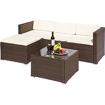 Amazon Com Leisure Zone Patio Furniture Set 4 Piece Pe Rattan
