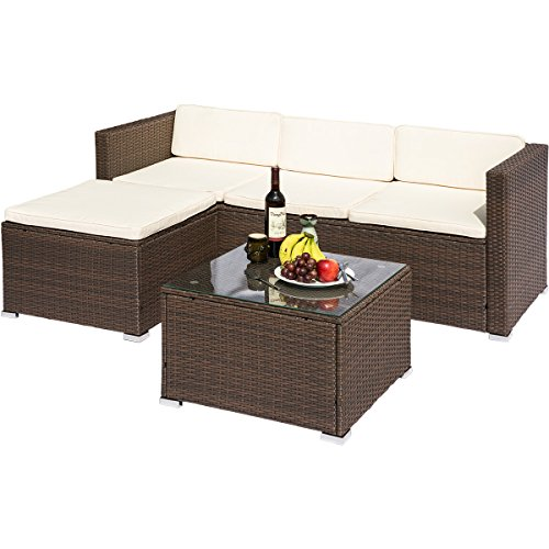 leisure zone rattan patio furniture set wicker sofa