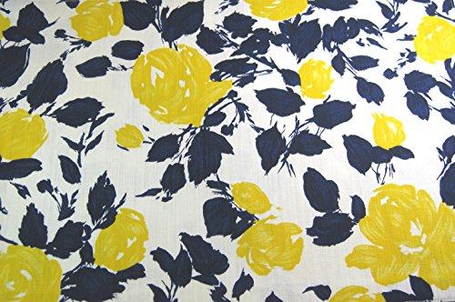(Kate Spade Garden Rose Set of 4 Placemats, Navy/Yellow)
