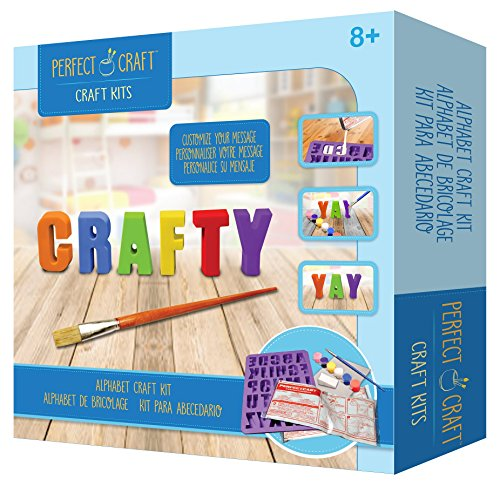 Perfect Craft Cast & Paint Alphabet Letters Kit with PerfectCast Casting Material and Reusable (Cast Plaster Molds)