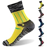 RANDY SUN 100% Waterproof Socks, Men's Breathable Running Multisport Canyoneering Mid Calf Socks Large