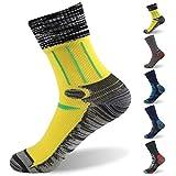 RANDY SUN 100% Waterproof Socks, Women's Soft Skin Touch Crew Socks for Mud Run Obstacle Race 1 Pair Small
