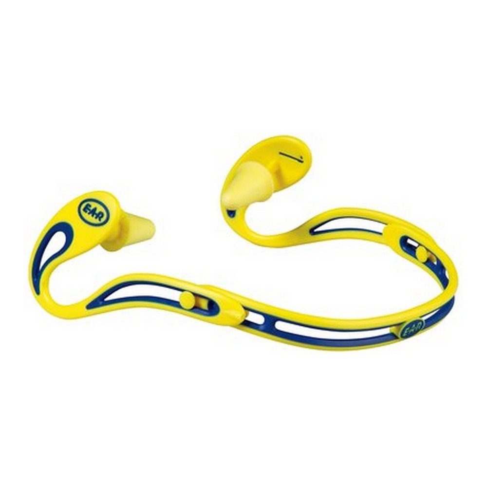 3M 10080529220049  E-A-R Swerve 322-2000 Banded Hearing Protectors, Yellow/Blue (Pack of 10)