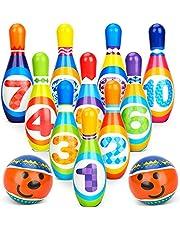 Bowling Set Kegelen Spel voor kinderen met 10 pinnen en 2 ballen Binnenspeelgoed Cadeaus voor kinderen Peuter Jongens Meisjes