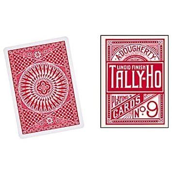 Baraja de cartas TALLY-HO Circle (Rojo): Amazon.es: Juguetes ...