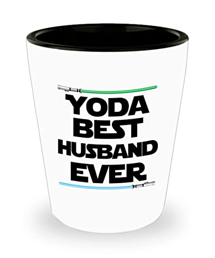 Yoda Best Husband Birthday Gift Nerd Star Wars Shot Glass Lightsaber