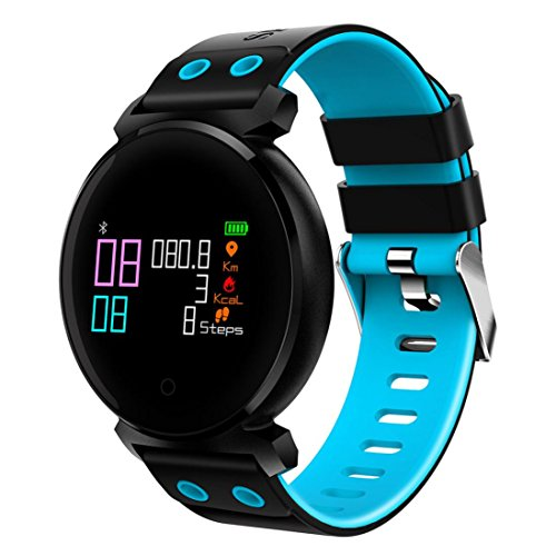 X-gadget Bluetooth Smart Watch IP68 Waterproof Fitness Tracker Blood Pressure Heart Rate Monitor Wrist Watch for Android Samsung LG Smartphones (Blue) by X-gadget