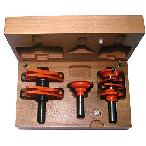 CMT 800.527.11 3-Piece Entry & Interior Door Router Bit Set in Hardwood Case, 1/2-Inch ()