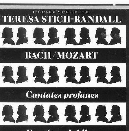 Teresa Stich-Randall sings Bach Solo Secular Cantatas & Mozart Exsultate Jubilate (Import CD, RARE) by Le Chant du Monde ( Harmonia Mundi , France )