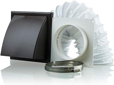 Kit de extractor de campana extractora para secadora con ventilador de 150 mm, marrón: Amazon.es: Bricolaje y herramientas