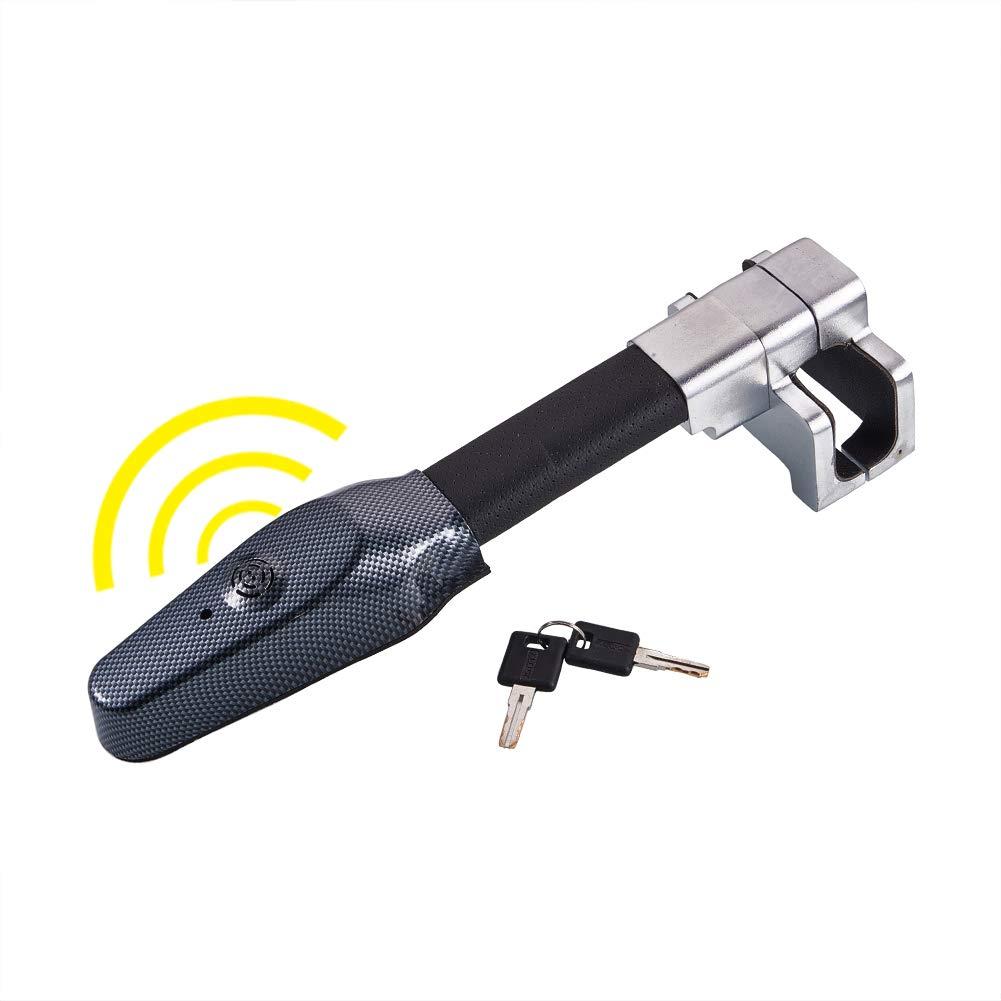 Blueshyhall Car Anti-Theft Device,Universal Steering Wheel Lock Car Anti Theft Safety Alarm Lock Retractable T-Lock by Blueshyhall