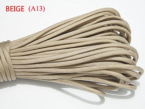 100ft 550 Paracord Parachute Cord Lanyard Mil Spec Type III 7 Strand Core (Beige)