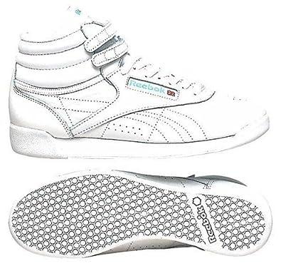 Amazon.com | Reebok Women's Freestyle Hi Lace-Up Sneaker | Fashion Sneakers