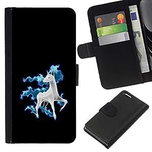 All Phone Most Case / Oferta Especial Cáscara Funda de cuero Monedero Cubierta de proteccion Caso / Wallet Case for Apple Iphone 5C // Funny Cute Horse Unicorn Fancy