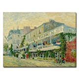 Trademark Fine Art Restaurant de la Sirene 1887 by Vincent van Gogh, 26 by 32-Inch Canvas Wall Art