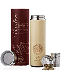 Bamboo Tumbler 18 oz Thermos for Loose Leaf Tea, Coffee...
