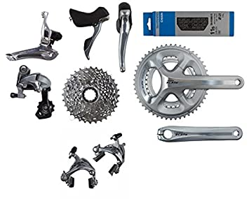 0f1cc1ce183 Shimano 105 5800 Group Set - Silver, Drivetrains - Amazon Canada