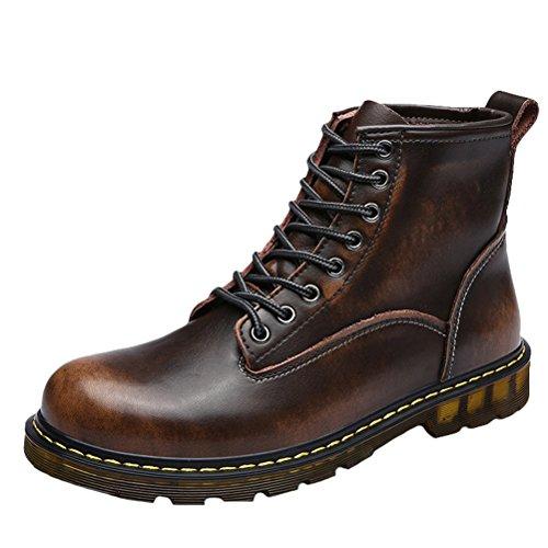 MatchLife Herren Vintage Kurzschaft Stiefel Bronze