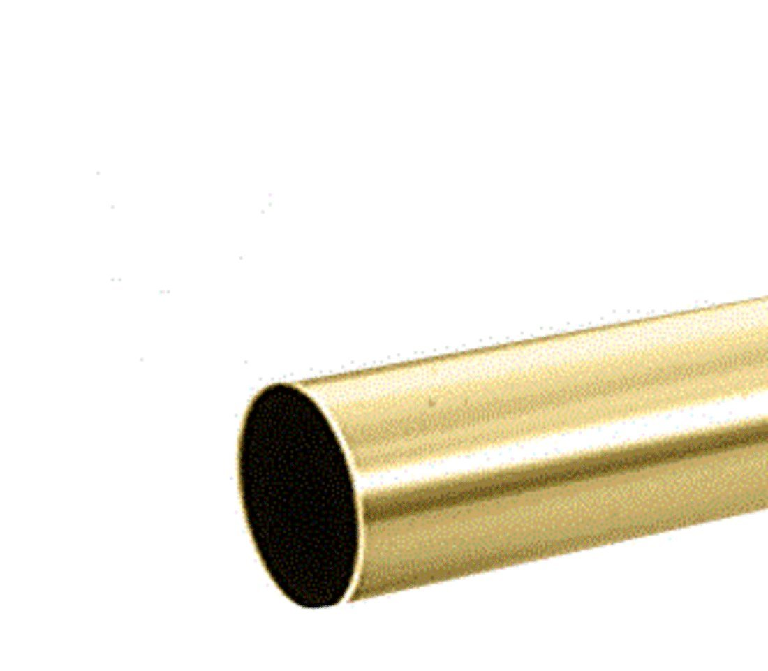 CRL Polished Brass 1-1/2'' Diameter Round .050'' Tubing - 98'' by CR Laurence (Image #1)