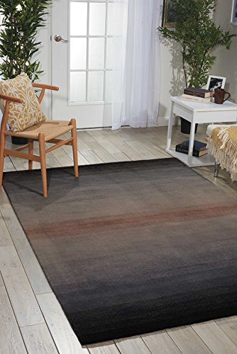 (Nourison Contour Grey Rectangle Area Rug, 8-Feet by 10-Feet 6-Inches (8' x 10'6