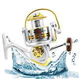 Homar Left/Right Fishing Spinning Reels - Best in Fishing Accessories - Smooth Aluminum Fishing Reel Spool Capacity 500-6006 Series Perfect for Saltwater & Freshwater Spinning Ice Surf Fishing