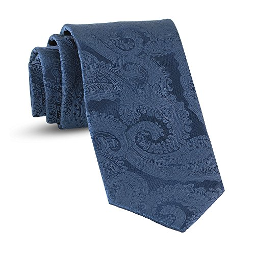 Handmade Paisley Ties For Men Skinny Woven Slim Navy Blue Mens Tie: Thin Necktie, Stylish Neckties For Every Outfit