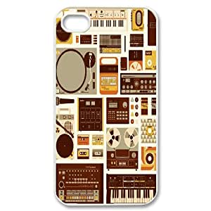 SOPHIA Phone Case Of listening to music Fashion Style Colorful Painted for iPhone 4/4S