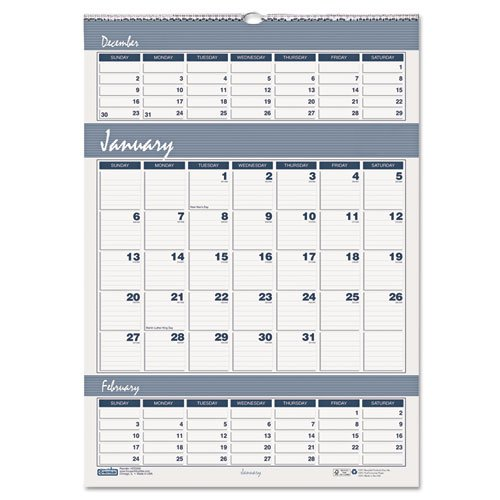 House of Doolittle Bar Harbor Wirebound Three-Months-per-Page Wall Calendar, 12 x 17, 2013-2015 (Bar Doolittle)
