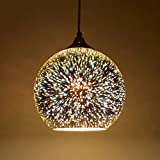 Modern 3D Multicolor Creative Glass Ceiling Lights Lamp Shade Chandelier Minimalist Art Pendant Lights(Style B)