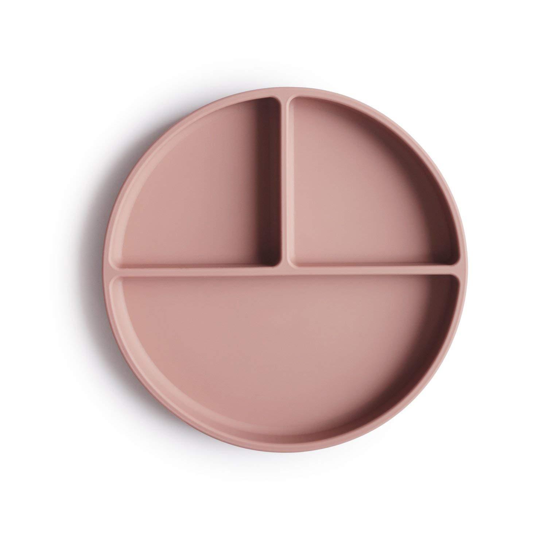 mushie Silicone Suction Plate | BPA-Free Non-Slip Design (Blush)