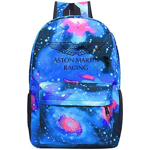 (Galaxy School Backpack Ast-on Mar-tin Logo Bookbag For School College Student Travel Busines)