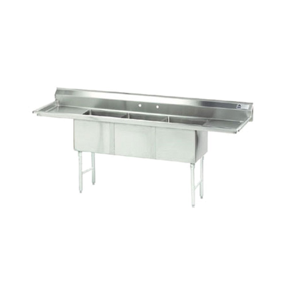 Advance Tabco FC-3-1824-18RL 18'' x 24'' 3 Compartment Sink