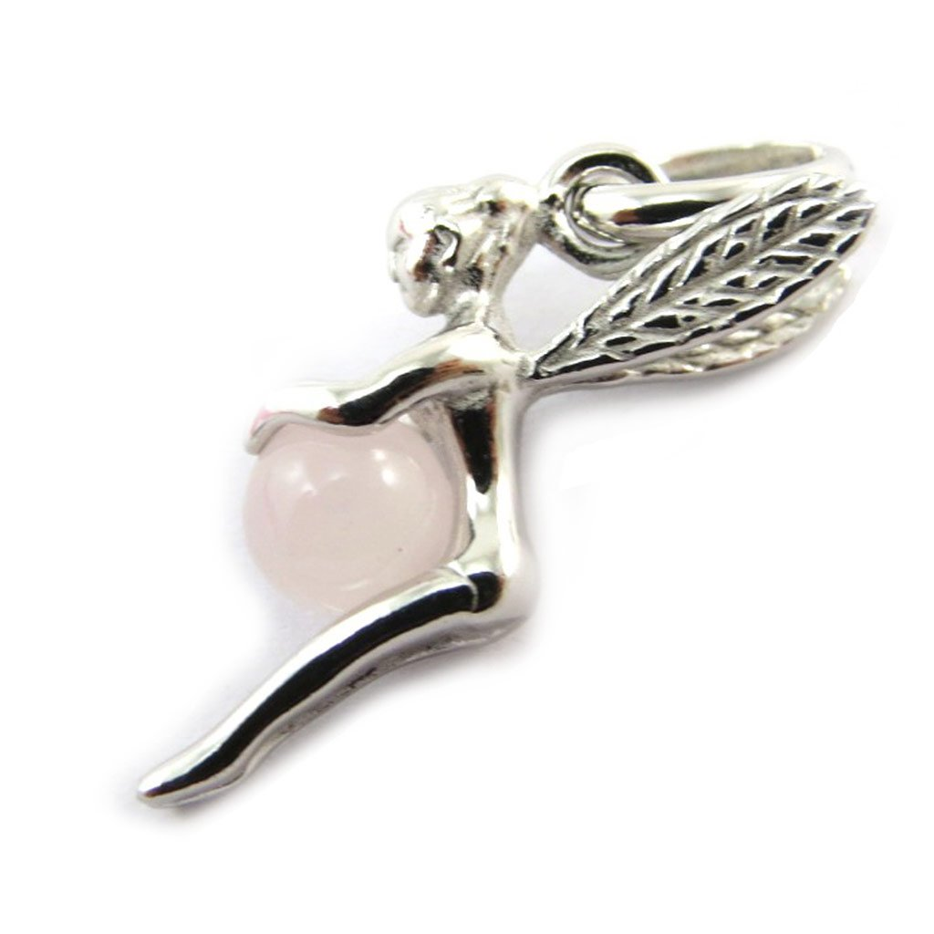 Les Trésors De Lily N3964 - Pendentif Argent 'Fée Clochette' quartz rose (rhodié) Les Tresors de Lily 010605ARG032016N396400