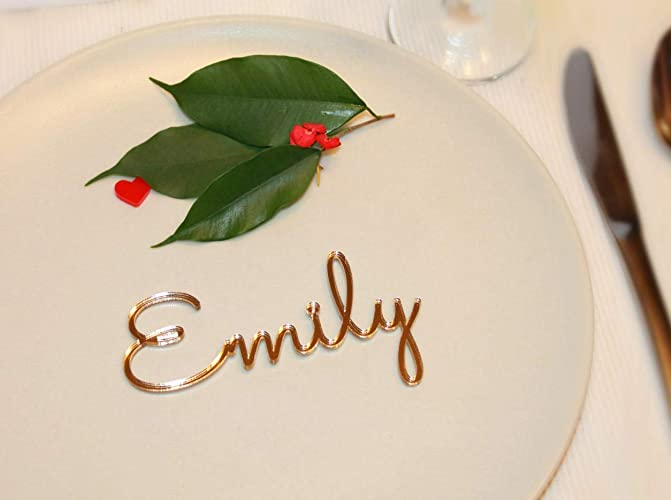 amazon com personalized gold wedding acrylic place cards place name