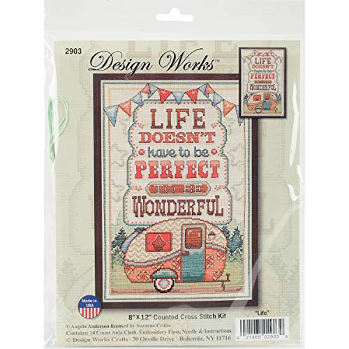Tobin 2903 14 Count Life is Wonderful Counted Cross Stitch Kit, 8