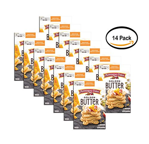 PACK OF 14 - Pepperidge Farm Golden Butter Crackers, 9.75 oz by Pepperidge Farm